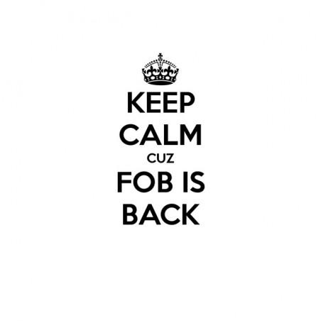 Keep calm cuz fob is back white sublimation t-shirt