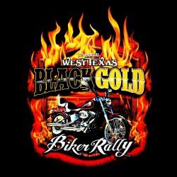 black gold t-shirt rally bikers black sublimation