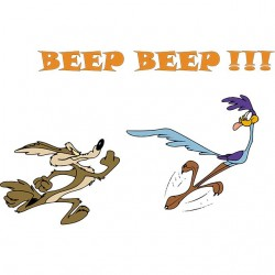 tee shirt beep beep et le...