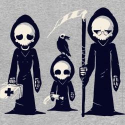 tee shirt grim family gray...