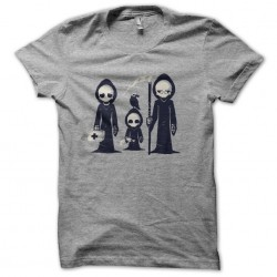 tee shirt grim family gray sublimation