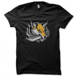 t-shirt sword fox black...