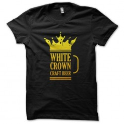 tee shirt white crown craft beer  sublimation