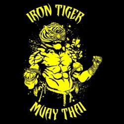 t-shirt iron tiger muay thai black sublimation