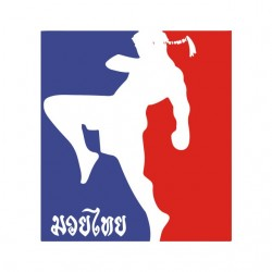 t-shirt muay thai original logo white sublimation