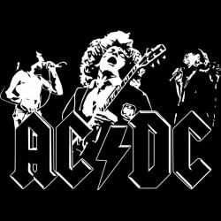 ACDC shirt black sublimation