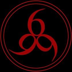 t-shirt logo 666 black sublimation