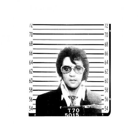 Elvis Presley t-shirt under white sublimation arrest