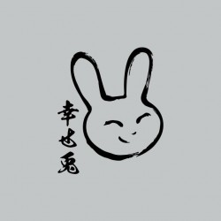 Tee shirt Lapin manga gris sublimation
