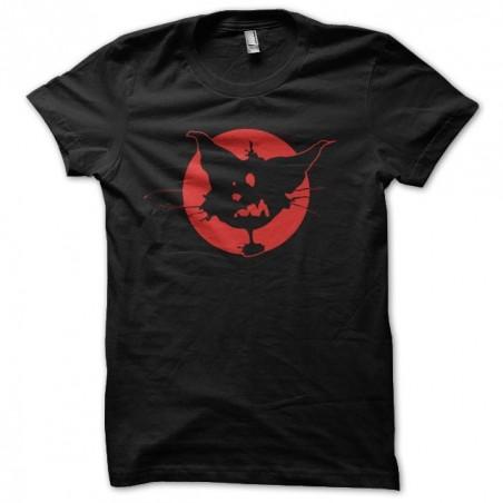 T-shirt cat cartoon red moon black sublimation