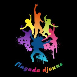 t-shirt flagada djeuns parody flagada jones black sublimation