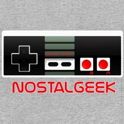 tee shirt nostalgeek gris sublimation