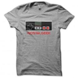 t-shirt nostalgeek gray...