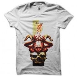 baby t-shirt taken by satan by white sublimation