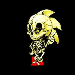 tee shirt sonic squelette...