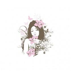 Tee shirt Ange fleurs...