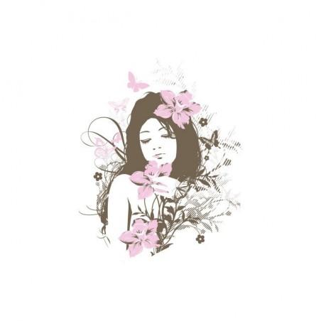 Angel flowers white sublimation t-shirt
