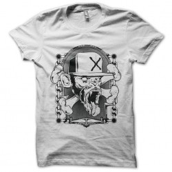 Gansta monkey tee shirt black on white sublimation