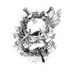 tee shirt skull and sword...