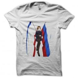 tee shirt Natalia Poklonskaya anime style white sublimation