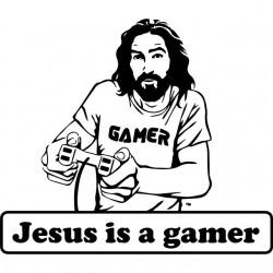 tee shirt jesus is a gamer...
