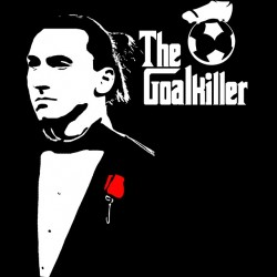 tee shirt zlatan ibrahimovic the goalkiller parody the godfather black sublimation