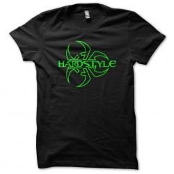 Hardstyle Biohazard Tee Shirt green on black sublimation