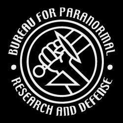tee shirt hellboy Bureau de recherche et de défense sur le paranormal  sublimation