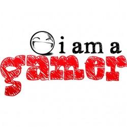 tee shirt I am gamer white...