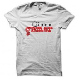 tee shirt I am gamer white sublimation