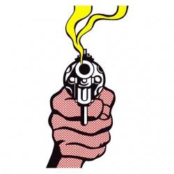 tee shirt gun cartoon...