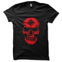 red skull tee shirt black...
