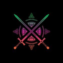 shirt sword logo fashion...