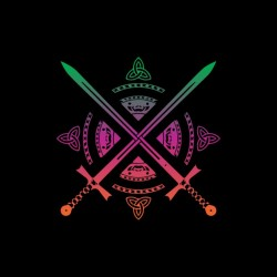 tee shirt sword logo...