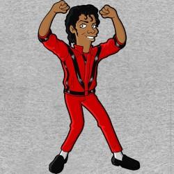 tee shirt michael jackson version simpson gris sublimation