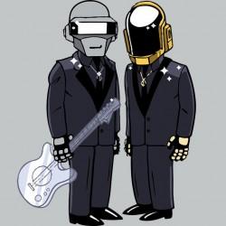 t-shirt daft punk version simpson gray sublimation