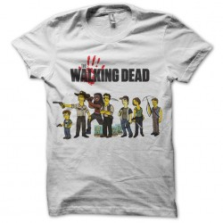 The walking dead t-shirt simpsons white sublimation