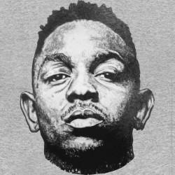 t-shirt kendrick lamar portrait gray sublimation