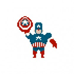 shirt captain america 8 bit...
