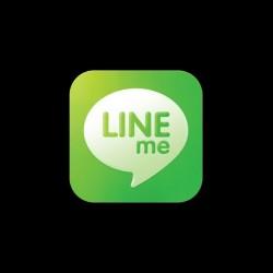 T-shirt Geek Line Me parody Line App black sublimation