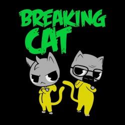 t-shirt breaking cat black sublimation