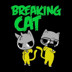 tee shirt breaking cat  sublimation