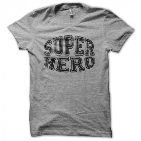 Tee shirt Super Hero gris sublimation