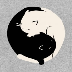 tee shirts cats in ying yang sublimation