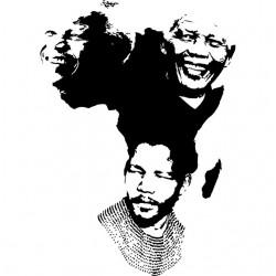 Nelson Mandela Africa t-shirt white sublimation