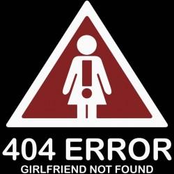 tee shirt 404 error girl friend not found  sublimation