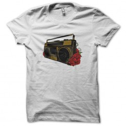 t-shirt stereo and roses white sublimation