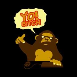 shirt monkey yo bitch black...