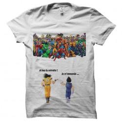 Tee shirt Sangoku et Vegeta Vs Marvel  sublimation