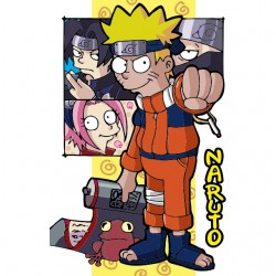 t-shirt naruto simpsons...